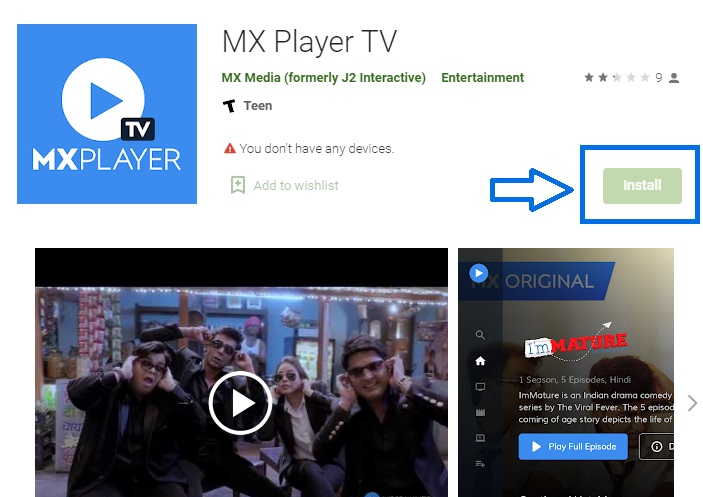 mxplayer for android tv